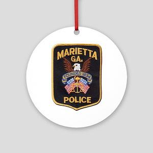 Marietta Police Ornament (Round)