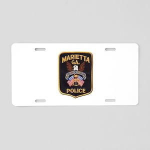 Marietta Police Aluminum License Plate