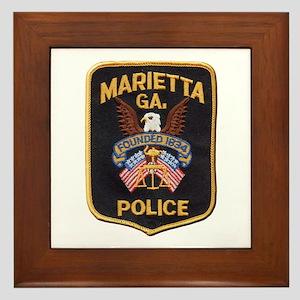 Marietta Police Framed Tile
