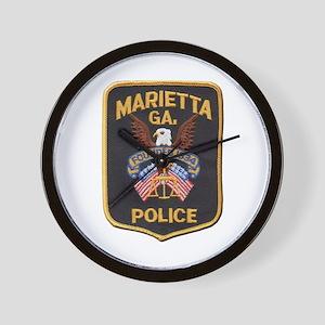 Marietta Police Wall Clock
