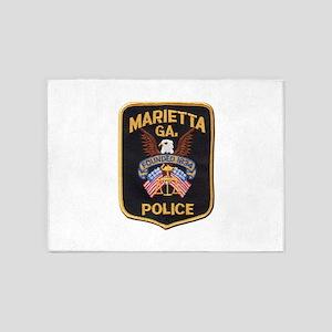 Marietta Police 5'x7'Area Rug