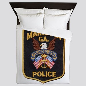 Marietta Police Queen Duvet