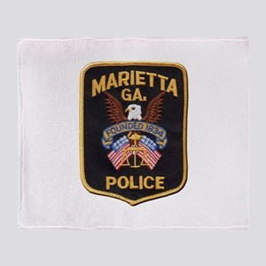 Marietta Police Throw Blanket