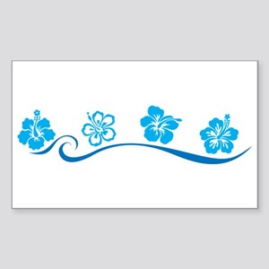 Flower Beach Rectangle Sticker