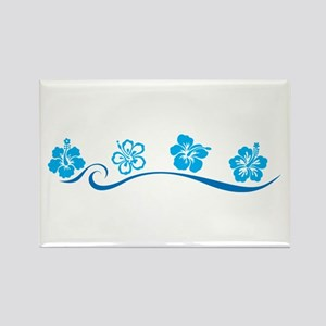 Flower Beach Rectangle Magnet