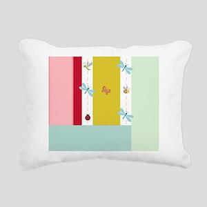Preppy Pink Stripes Rectangular Canvas Pillow