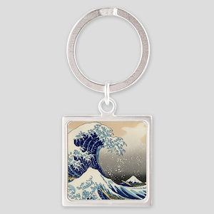 Japanese Woodcut -- Mount Fuji Wave by Hokusai Key