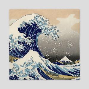 Japanese Woodcut -- Mount Fuji Wave by Hokusai Que