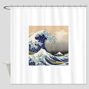 Japanese Woodcut -- Mount Fuji Wave by Hokusai Sho