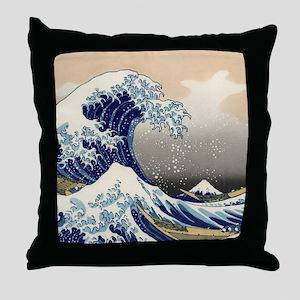Japanese Woodcut -- Mount Fuji Wave by Hokusai Thr