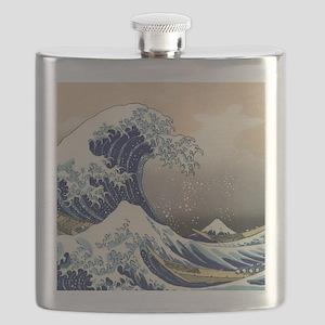 Japanese Woodcut -- Mount Fuji Wave by Hokusai Fla