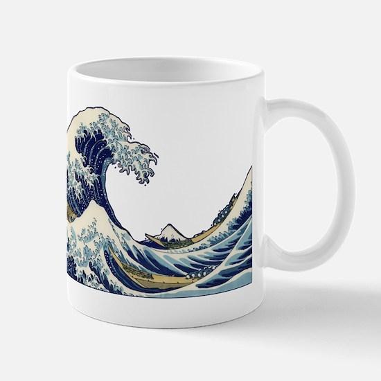 Japanese Woodcut -- Mount Fuji Wave Hokusaki Mugs
