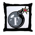 F-Bomb Throw Pillow