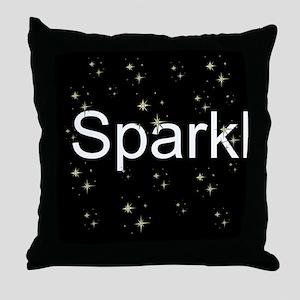 Trendy Black+White SPARKLE! Throw Pillow