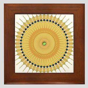 Deco Nouveau Sun Framed Tile