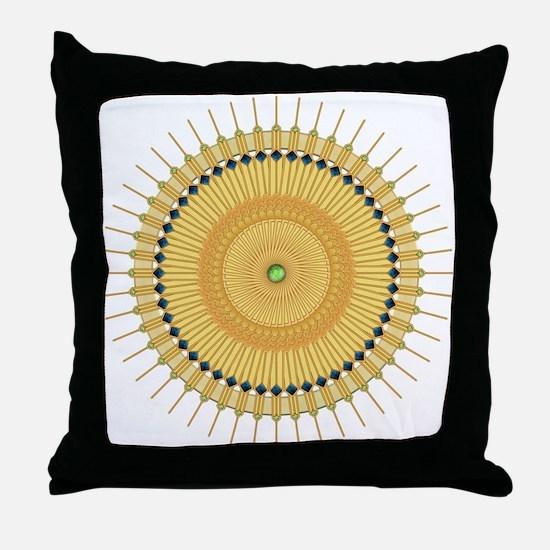 Deco Nouveau Sun Throw Pillow