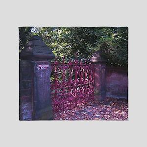 Strawberry Fields Gates Throw Blanket