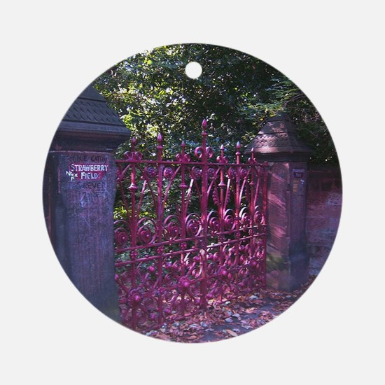 Strawberry Fields Gates Round Ornament