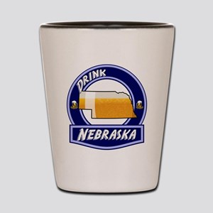 Drink Nebraska Shot Glass