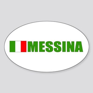 Messina, Italy Oval Sticker