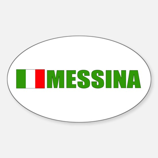 Messina, Italy Oval Decal