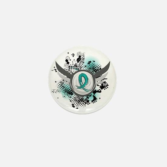 Scleroderma GrungeRibbonWings1 Mini Button