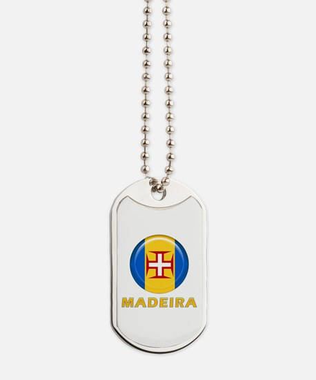 Madeira islands flag Dog Tags