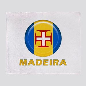 Madeira islands flag Throw Blanket