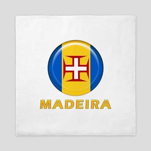 Madeira islands flag Queen Duvet