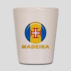 Madeira islands flag Shot Glass