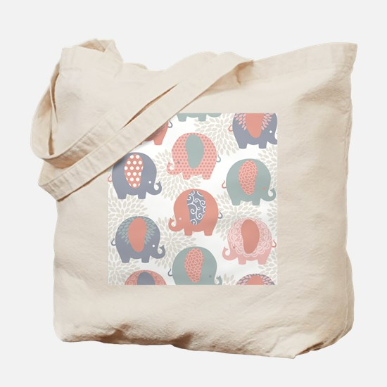 Cute Elephants Tote Bag