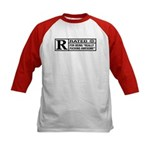 Rated R for being awesome Kids Baseball Jersey
