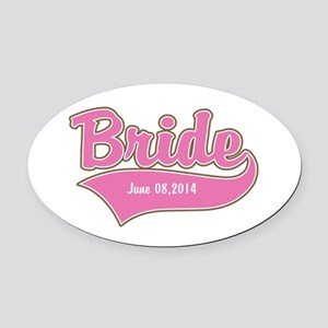 Bride Personalized Oval Car Magnet