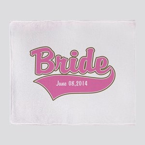 Bride Personalized Throw Blanket