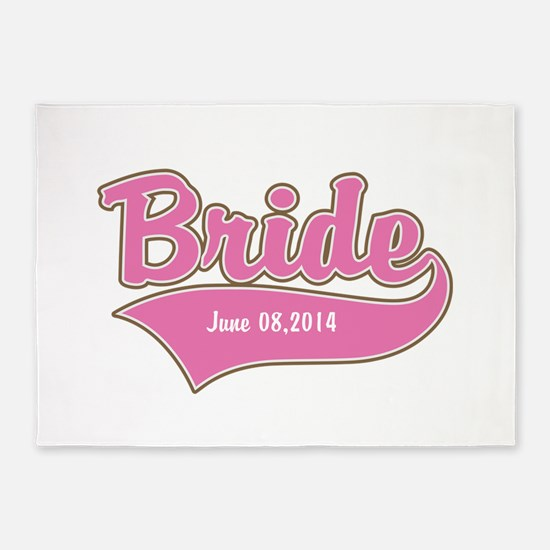 Bride Personalized 5'x7'Area Rug