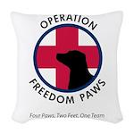 OFP Logo Woven Throw Pillow