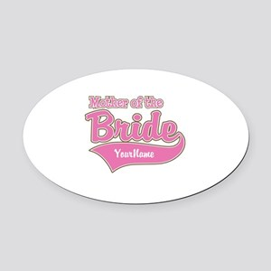 Mother of the Bride Oval Car Magnet