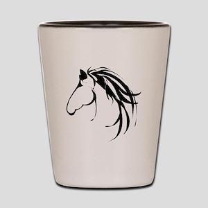 Classic Horse Head logo Shot Glass