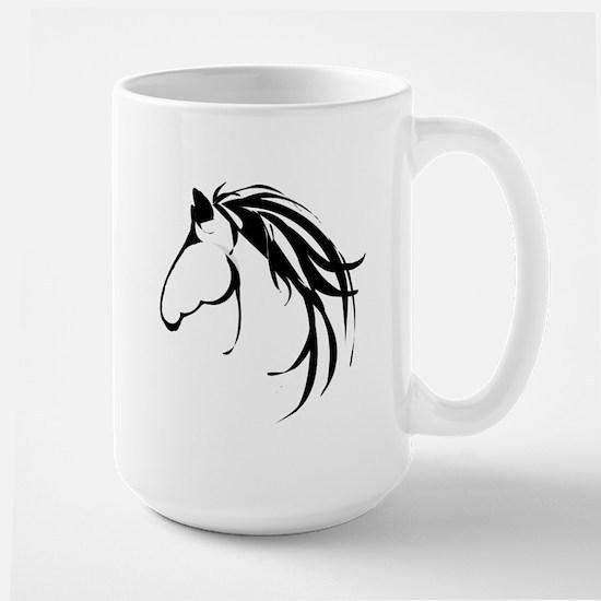 Classic Horse Head logo Mugs
