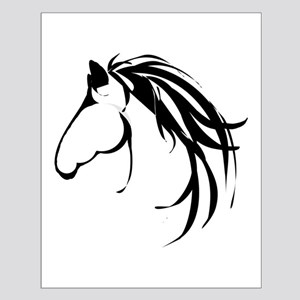 Classic Horse Head logo Small Poster