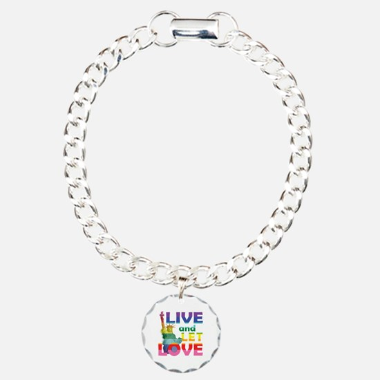 Live Let Love Statue of  Bracelet