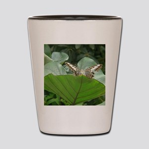 Butterfly on a Plant Shot Glass
