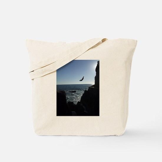 Cliff Diver in Mazatlan, Mexico Tote Bag