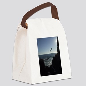 Cliff Diver in Mazatlan, Mexico Canvas Lunch Bag