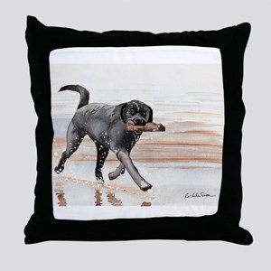 Black Lab #2 Merchandise! Throw Pillow