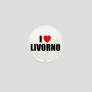 I Love Livorno, Italy Mini Button
