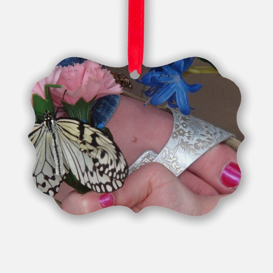 Butterfly on a Foot Ornament