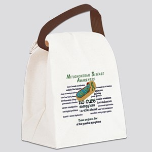 mito awarness facts Canvas Lunch Bag