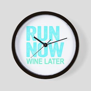 Run Now Wine Later Wall Clock