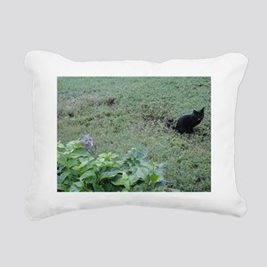 Two Cats Rectangular Canvas Pillow